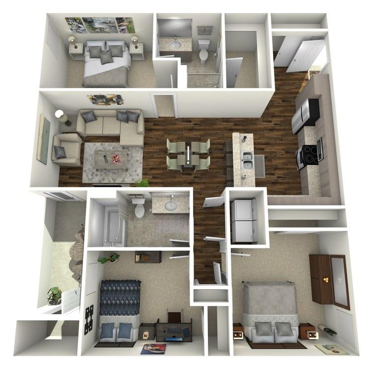 Floor plan image of 3A