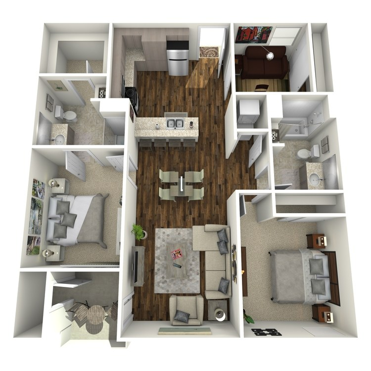 Floor plan image of 2B With Office