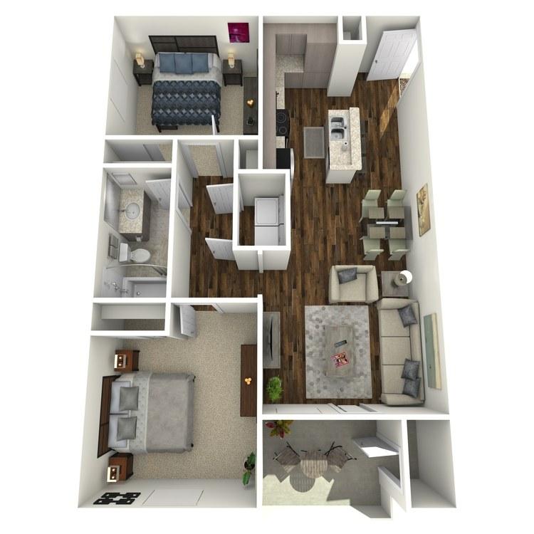 Floor plan image of 2A