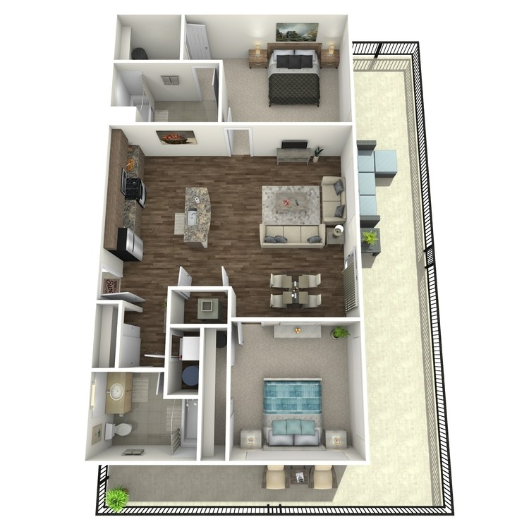 Floor plan image of Penthouse 100