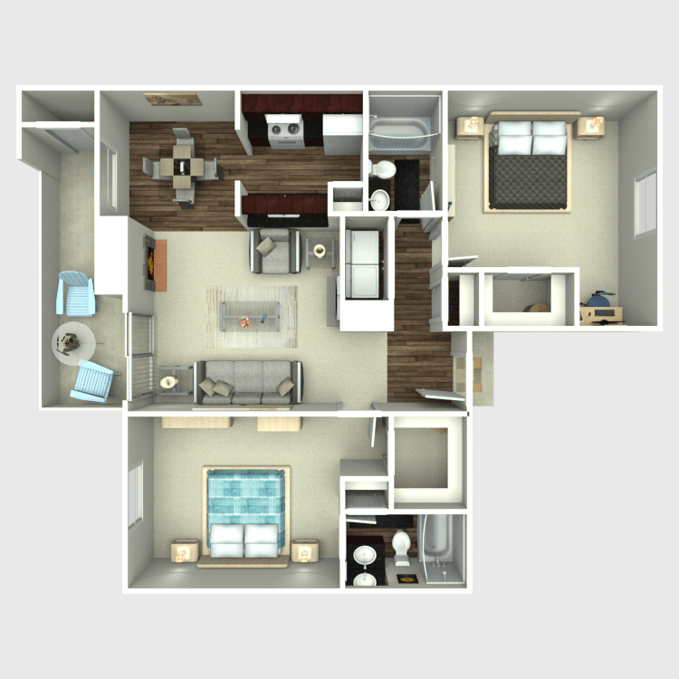 Floor plan image of The Oak