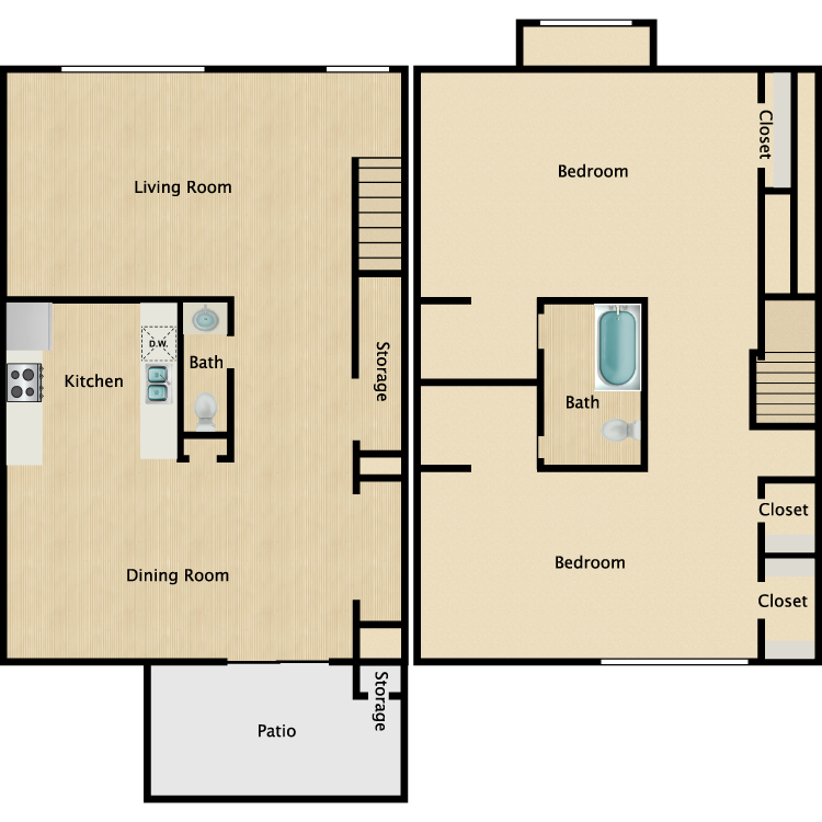 Floor plan image of B-4TH