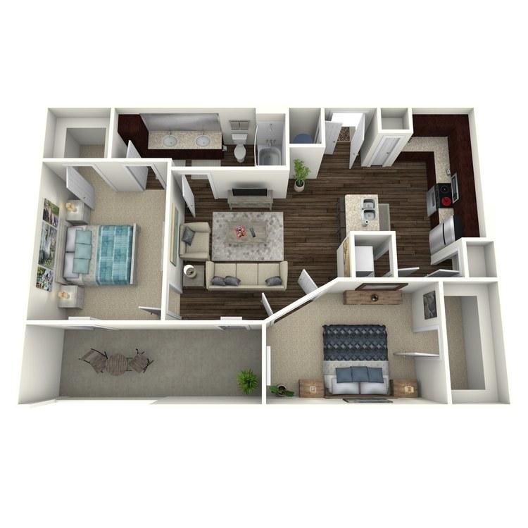 Floor plan image of Angelo B1H