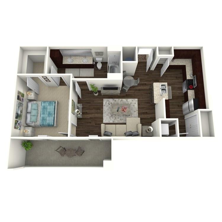 Floor plan image of Presley A8