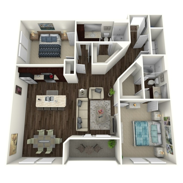 Floor plan image of Hamlet C3.2A