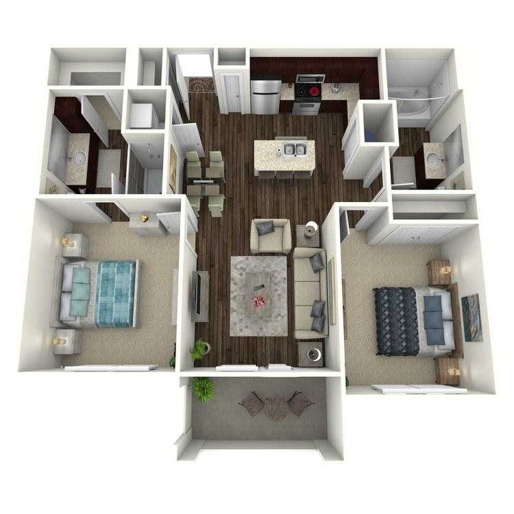 Floor plan image of Whitman C1H
