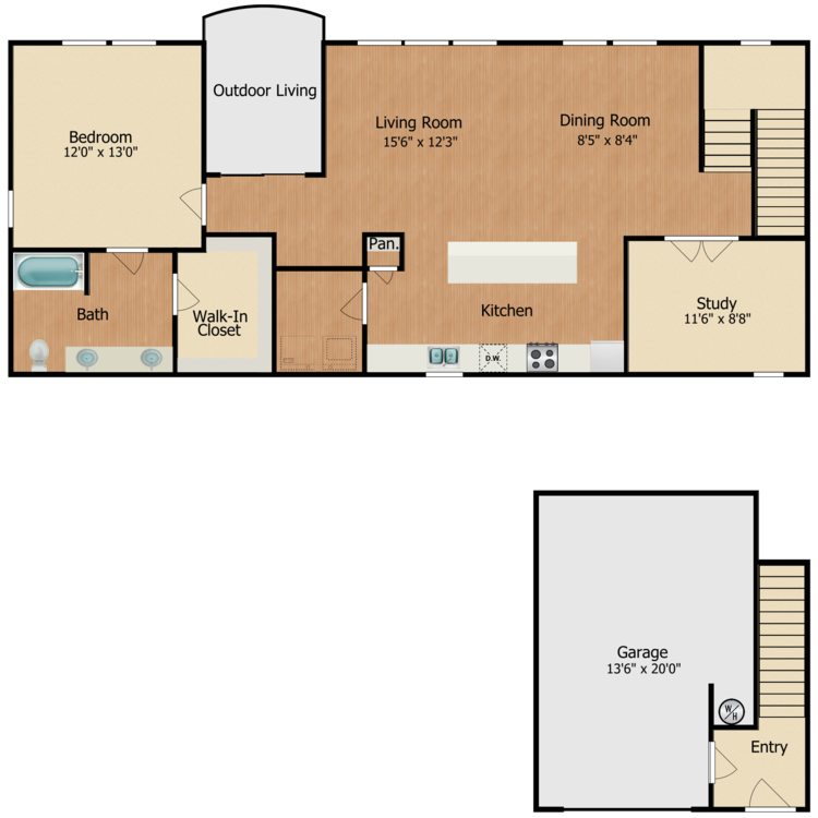 Floor plan image of Serape