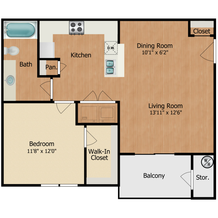 Floor plan image of Canyon