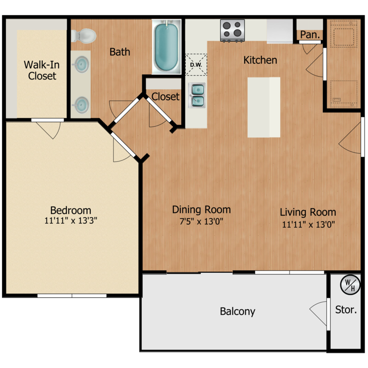 Floor plan image of Franciscan