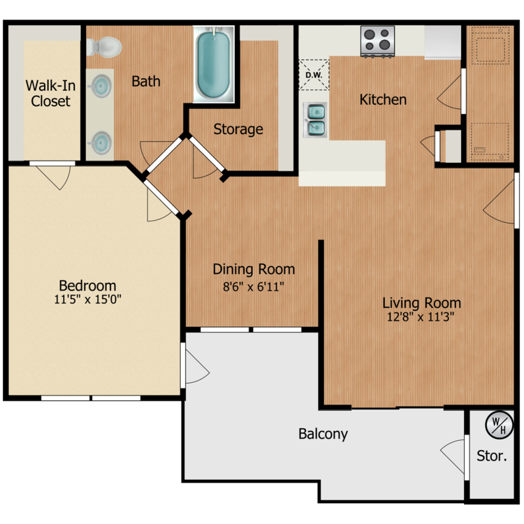 Floor plan image of Mojave