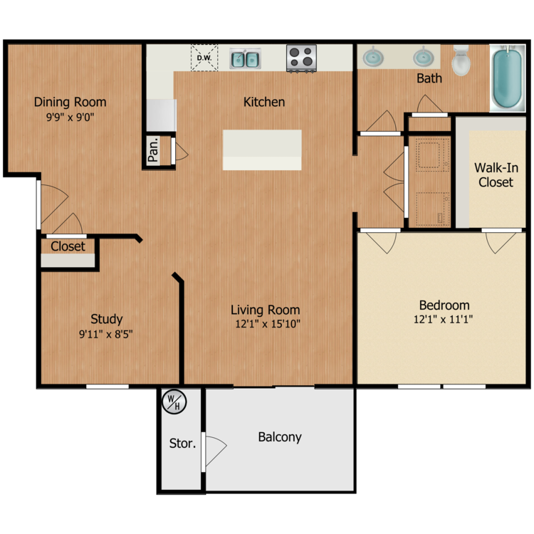 Floor plan image of Gabriel