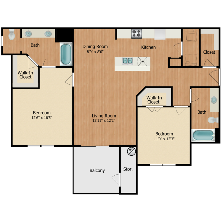 Floor plan image of Monte Vista