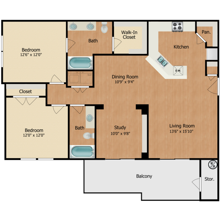 Floor plan image of Adobe