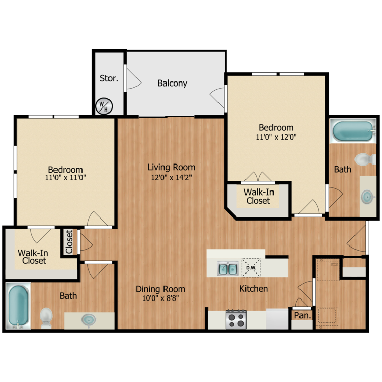 Floor plan image of Carson
