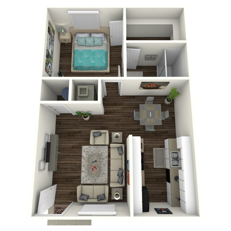 Floor plan image of 1 Bed 1 Bath Nest