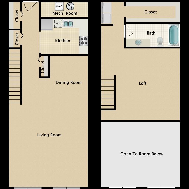 The Park Place B floor plan image