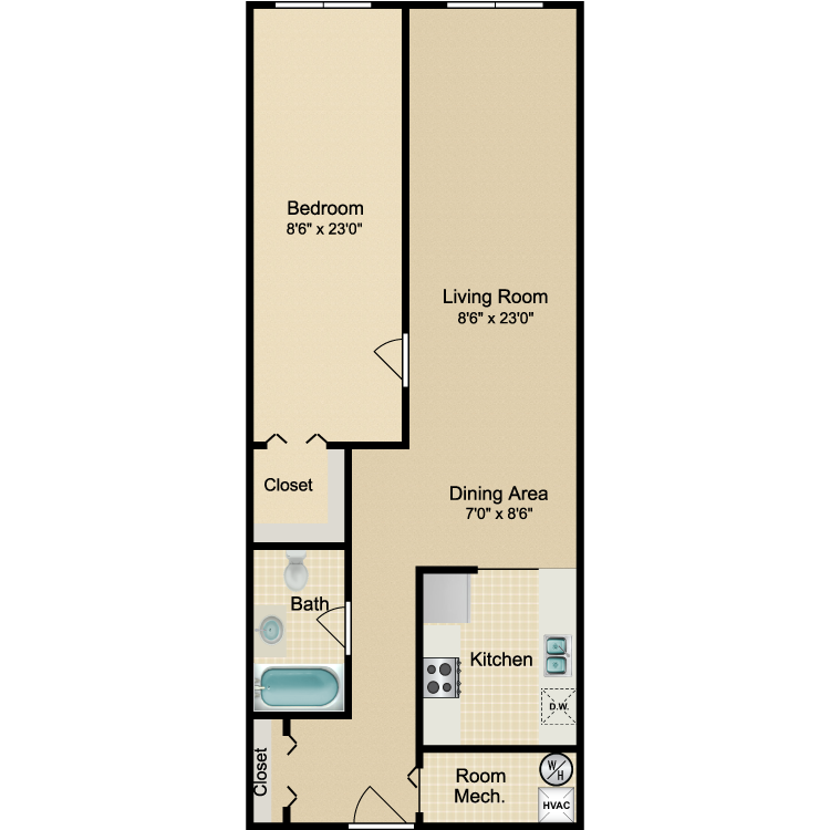 Floor plan image of The Soho