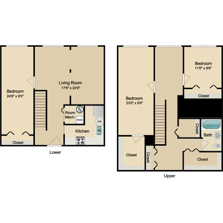 Floor plan image of The Tribeca