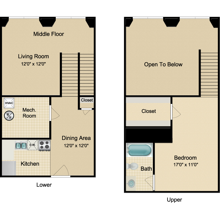 Floor plan image of The Uptown
