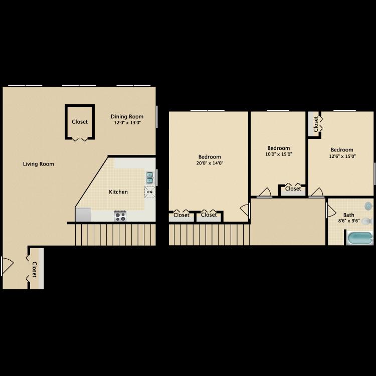 The Tribeca Unique floor plan image
