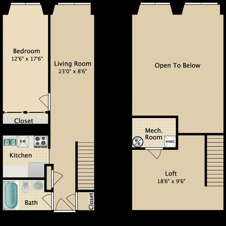 The Greenwich Village floor plan image