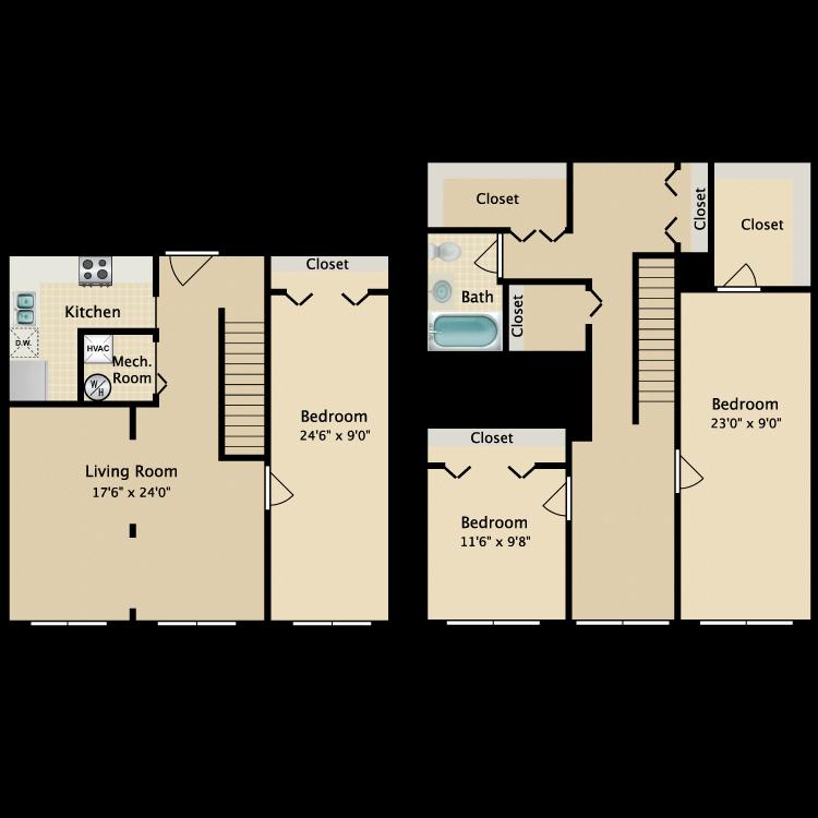 The Tribeca floor plan image