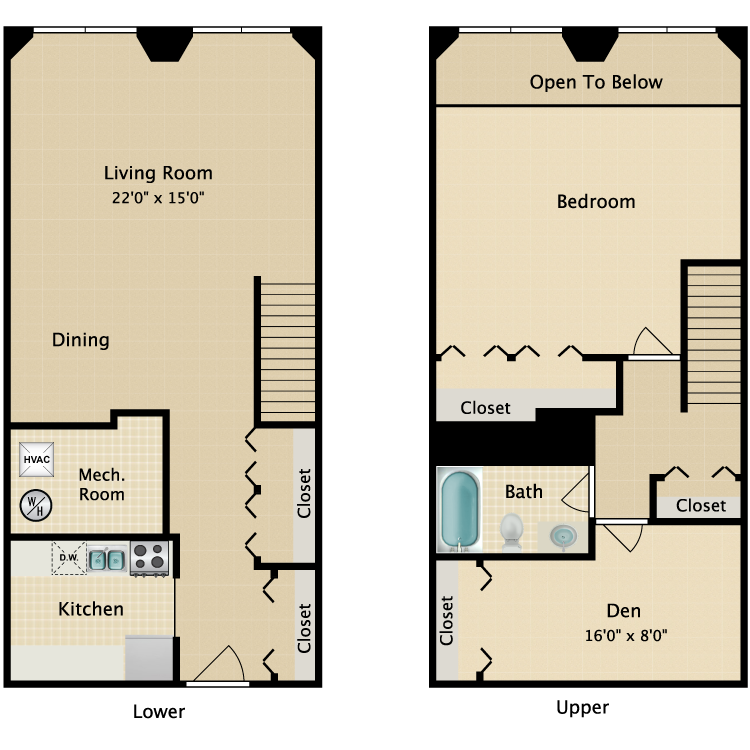 The West End floor plan image