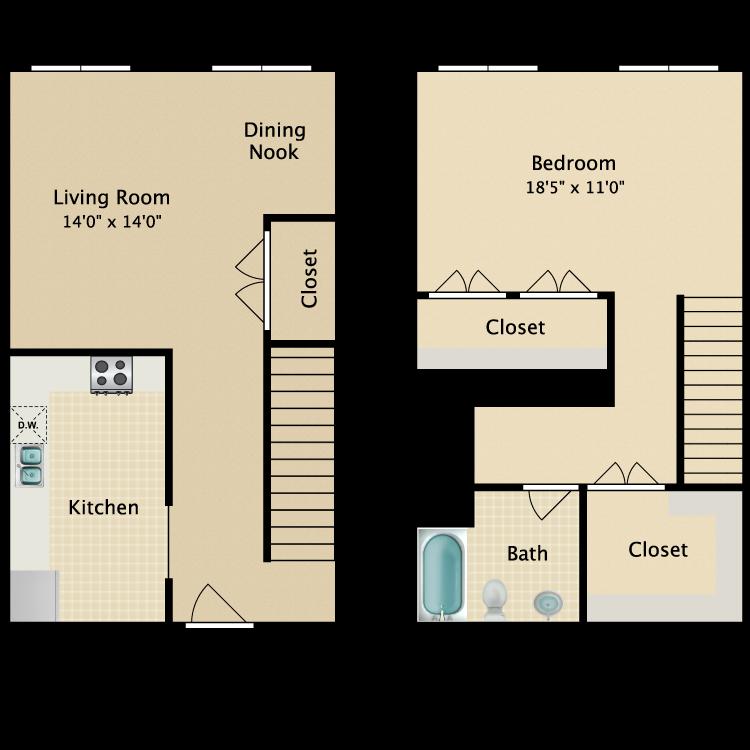 The Broadway floor plan image