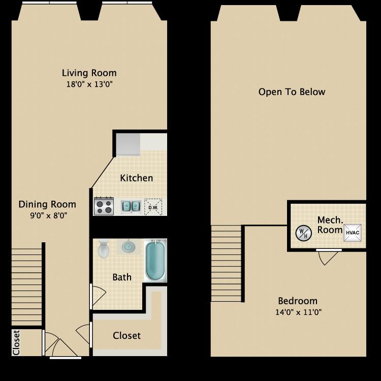 The Midtown floor plan image