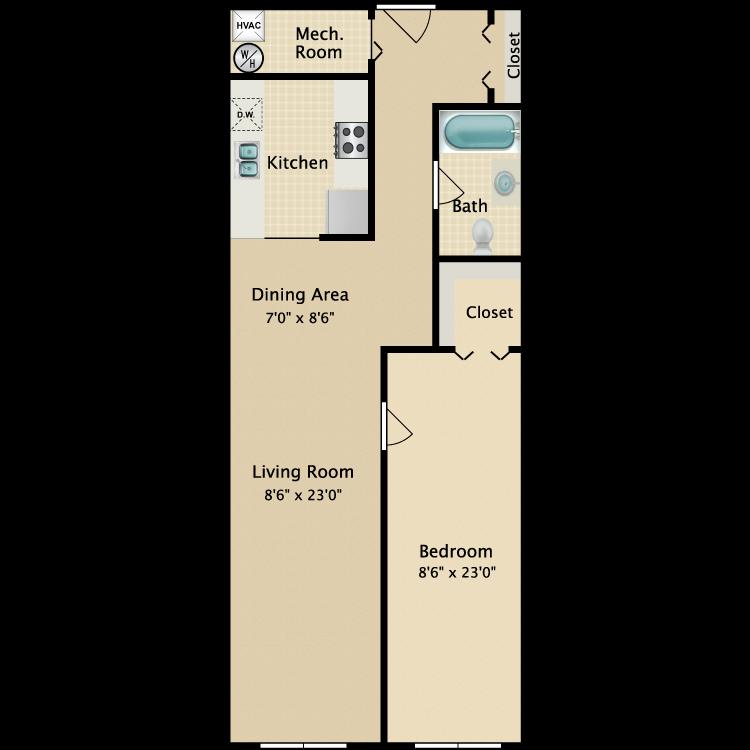 The Soho floor plan image