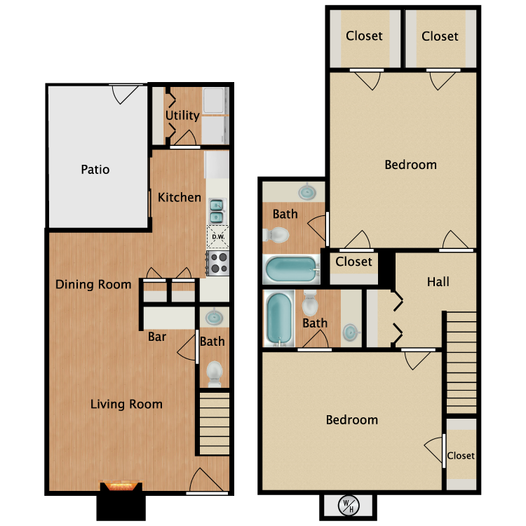 Floor plan image of K