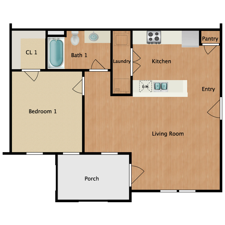 Floor plan image of Unit 1A