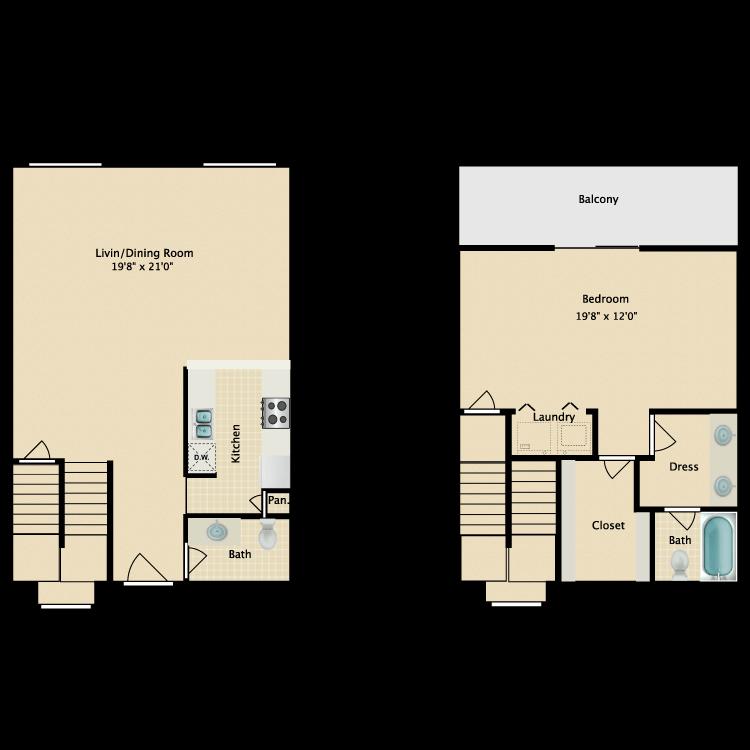 Floor plan image of B-2