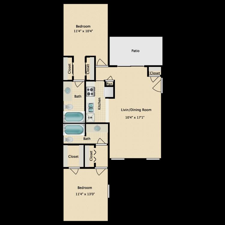 Floor plan image of E
