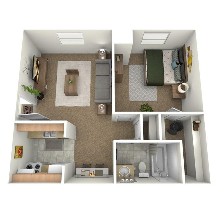 Floor plan image of 1 Bedroom Downstairs Front