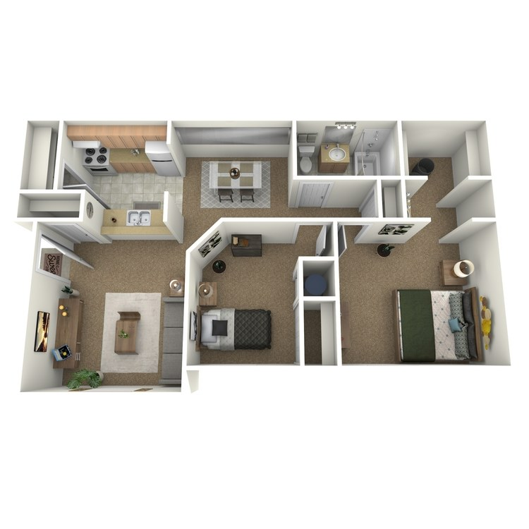 Floor plan image of 2 Bedroom Luxury A