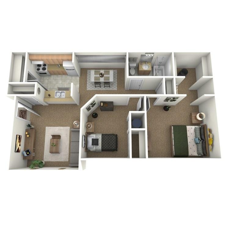 Floor plan image of 2 Bedroom Luxury B