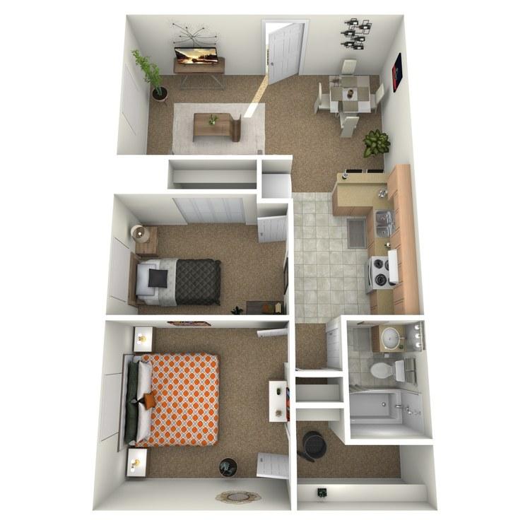 Floor plan image of 2 Bedroom Downstairs
