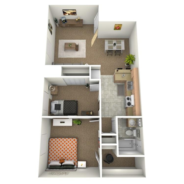 Floor plan image of 2 Bedroom Upstairs