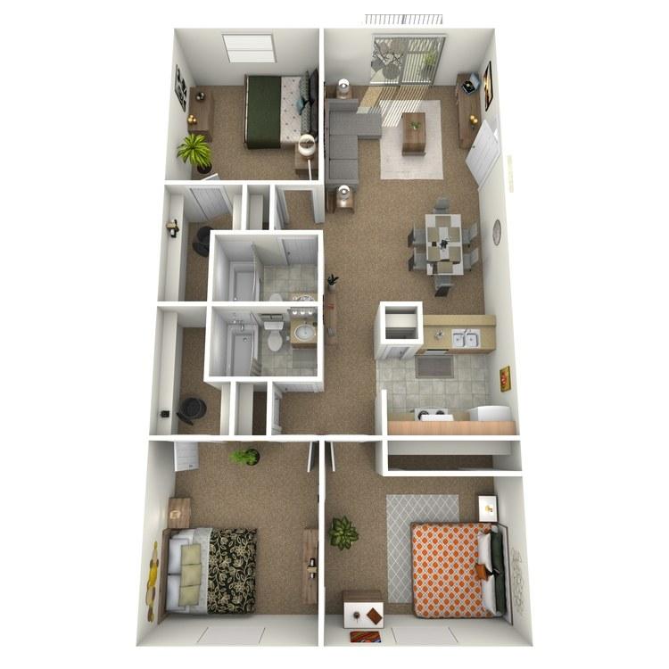 Floor plan image of 3 Bedroom Downstairs