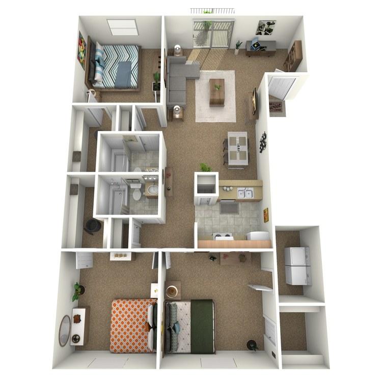 Floor plan image of 3 Bedroom Upstairs