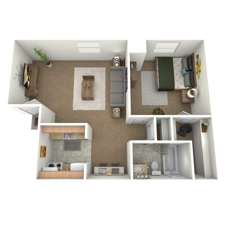 Floor plan image of 1 Bedroom Upstairs