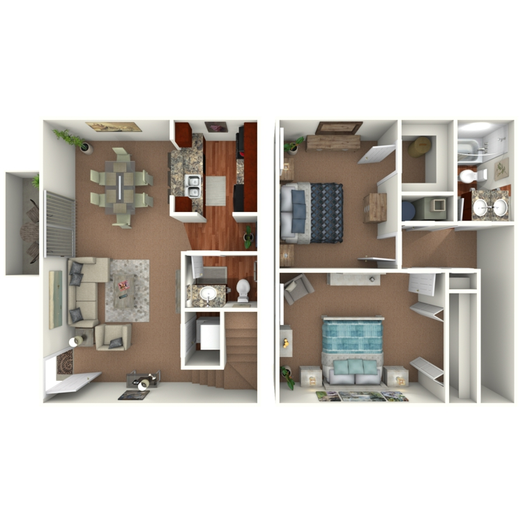 Floor plan image of The Hickory Townhome