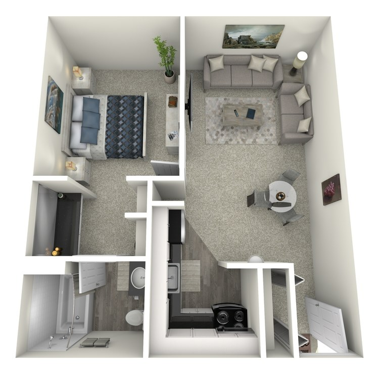 Floor plan image of 1x1 Small