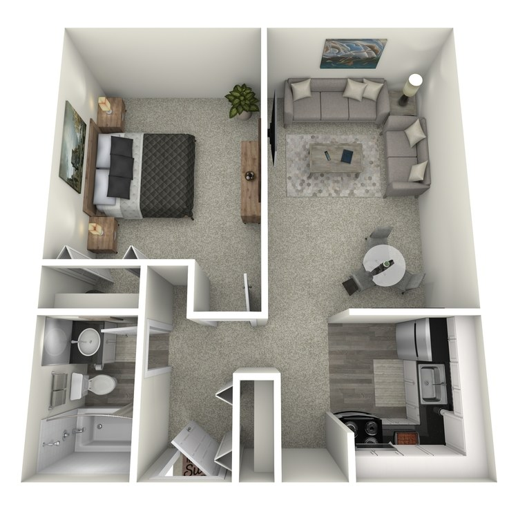 Floor plan image of 1x1 Large