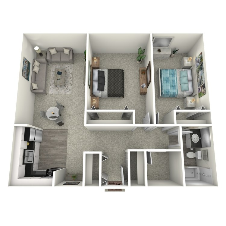 Floor plan image of 2x1 Small