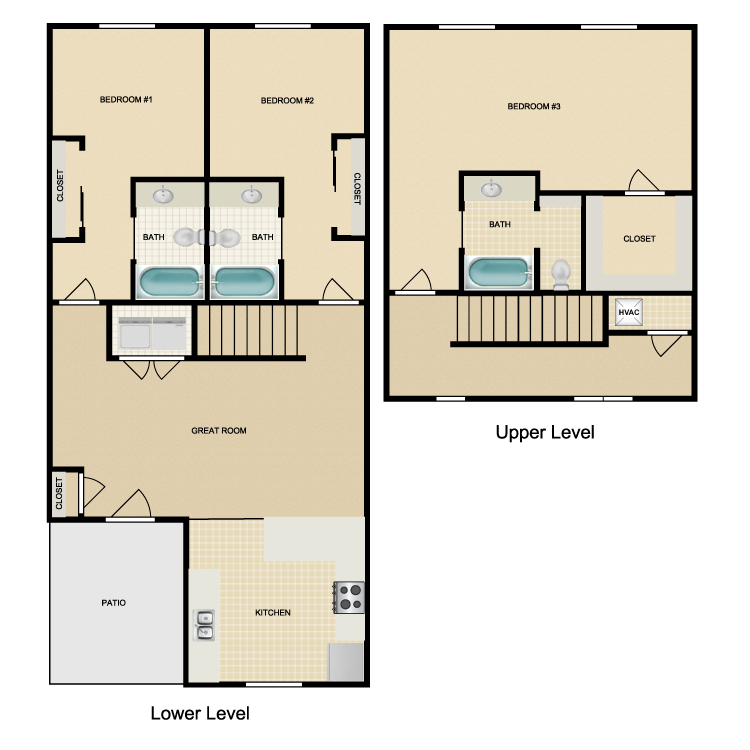 Floor plan image of Pikes Peak
