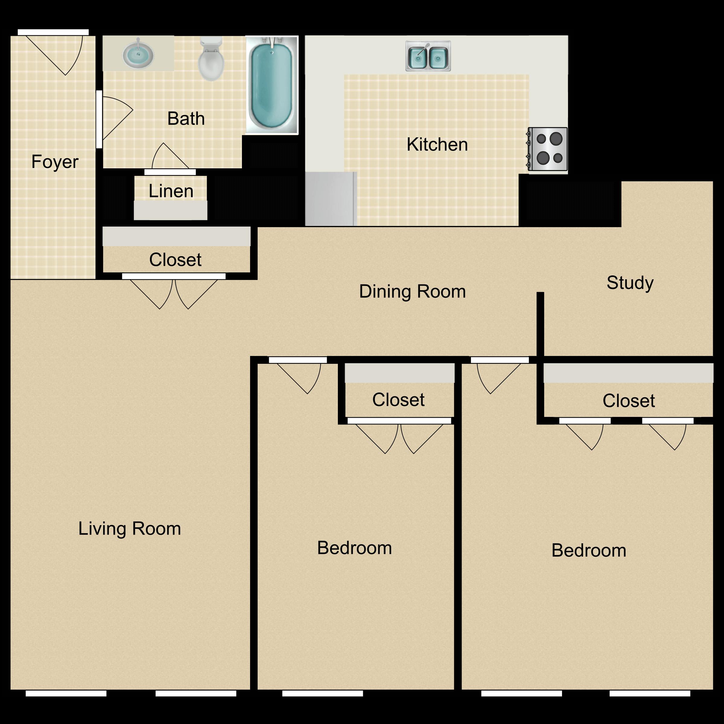 Floor plan image of The Galileo