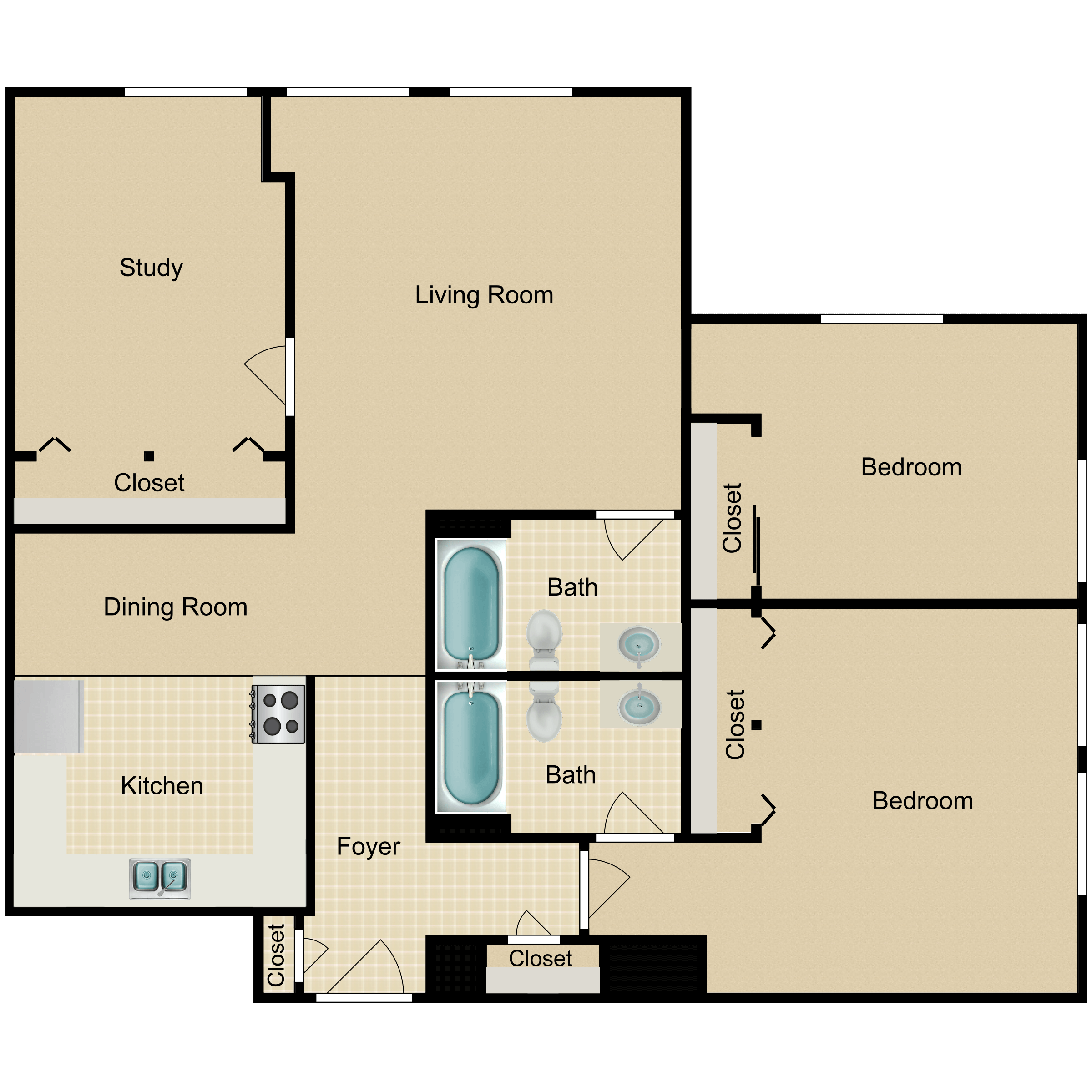 Floor plan image of The Newton