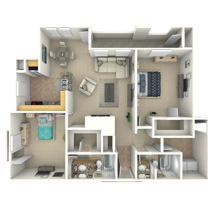 Floor plan image of B2a